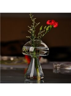 Creative Mushroom Design Glass Desktop Decoration Flower Vase