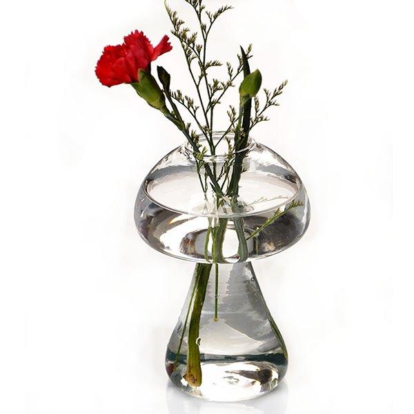 Creative Mushroom Design Glass Desktop Decoration Flower Vase