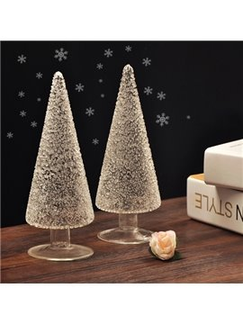 Creative Glass Christmas Tree Design Desktop Decoration