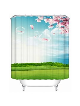 Fresh Natural Cozy Green Outdoor Print 3D Shower Curtain
