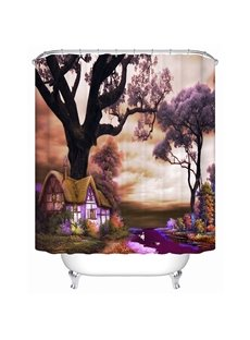 Mysterious Fancy Country Cottage 3D Shower Curtain