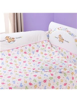 Adorable Colorful Lion Pattern 10-Piece Crib Bedding Sets