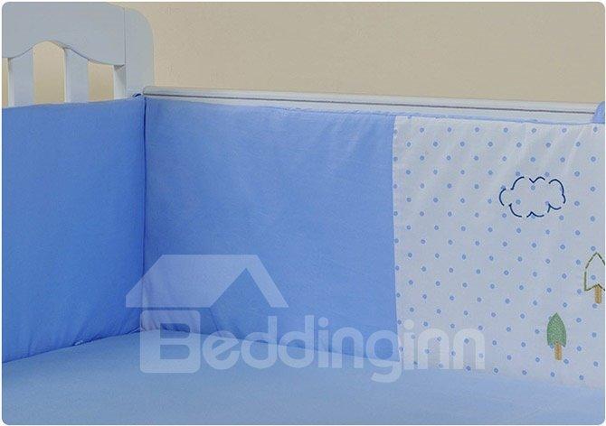 Cute Bear with Parachute Print 10-Piece Crib Bedding Sets