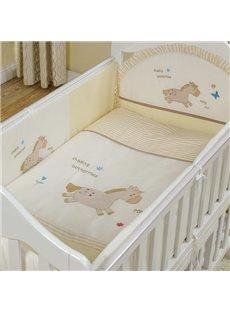 Bouncy Little Horse Pattern 10-Piece Crib Bedding Sets