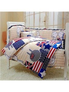 Super Cute Rabbit Pattern 10-Piece Crib Bedding Sets