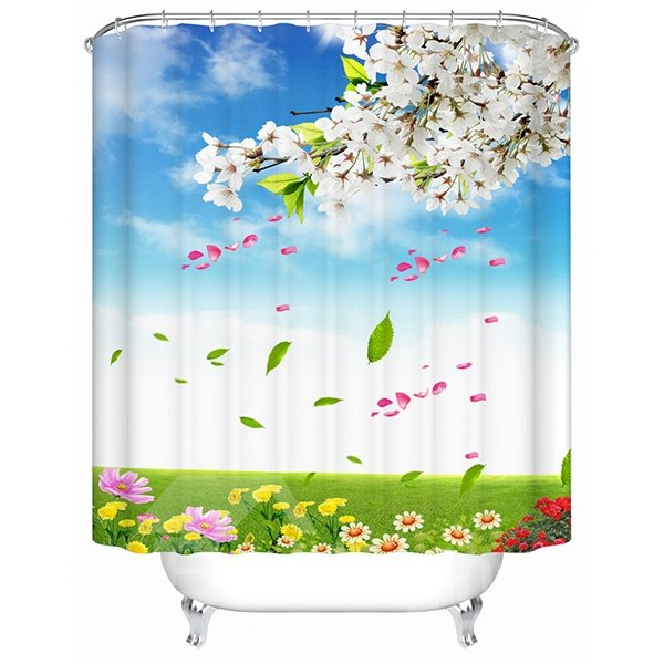 Brisk Summer Outdoor View Print 3D Shower Curtain