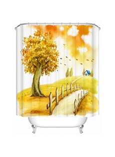 Happy Warm Outdoor View 3D Shower Curtain
