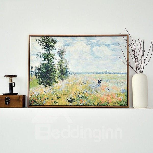 Modern Replica Art Monet Oil Painting 1-Panel Framed Wall Art Print