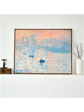 Modern Replica Art Monet Oil Painting Soleil Levant 1-Panel Framed Wall Art Print