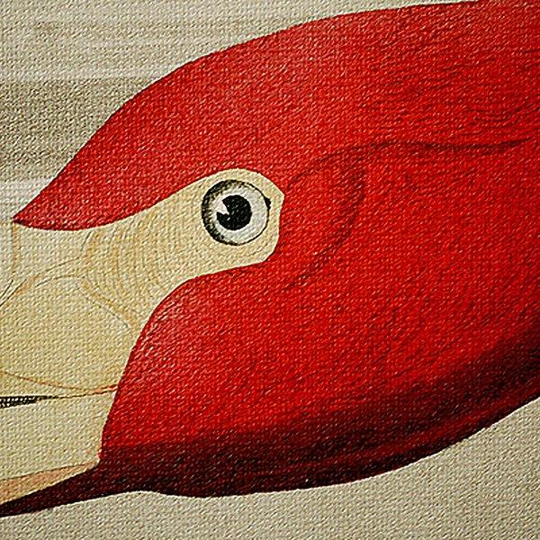 Modern Red Crane 1-Panel Framed Wall Art Print