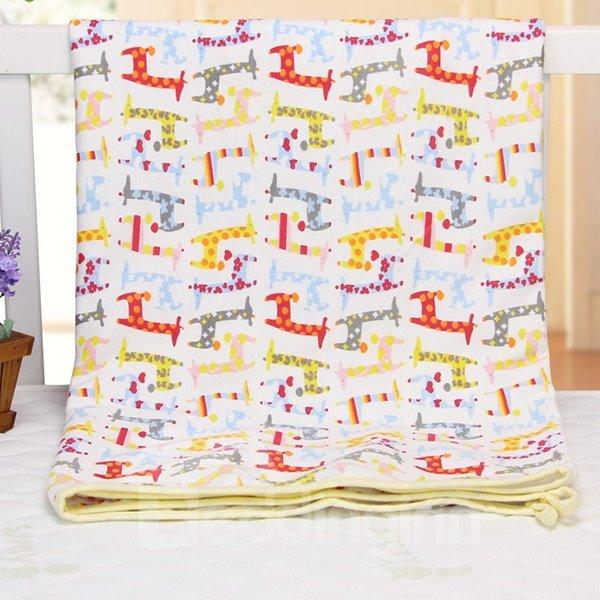 Adorable Giraffe Pattern 100% Cotton Baby Crib Sheet