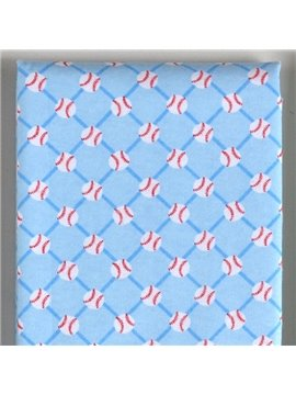 100% Cotton Blue Volleyball Pattern Baby Crib Sheet