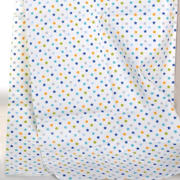 100% Cotton Small Blue Star Pattern Baby Crib Sheet