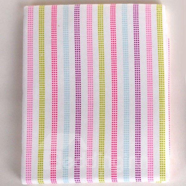 100% Cotton Simple Style Pink Stripe Pattern Baby Crib Sheet