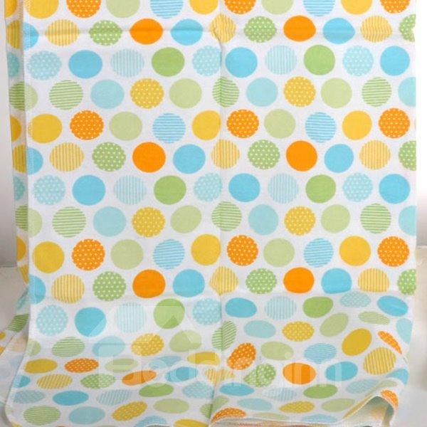 100% Cotton Colorful Polka Dot Pattern Baby Crib Sheet