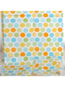 100% Cotton Colorful Polka Dot Pattern Baby Crib Sheet
