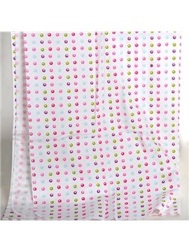 100% Cotton Super Cute Bubble Pattern Baby Crib Sheet