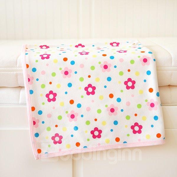 100% Cotton Pink Flower Pattern Baby Crib Sheet