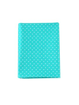 Adorable Lake Blue Polka Dot Pattern Cotton Baby Crib Sheet