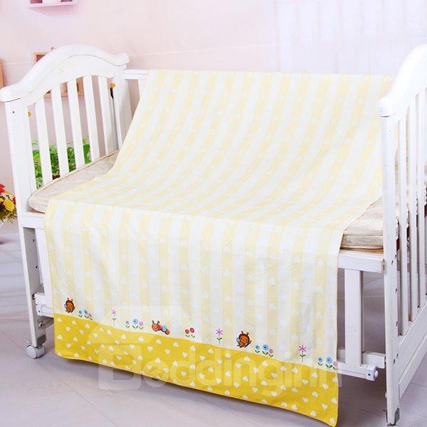 Adorable Yellow Bee Pattern Cotton Baby Crib Sheet