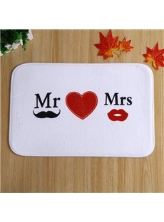 Romantic Mr and Mrs In Love Doormat