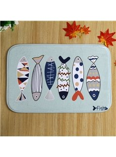 Wonderful Fish Pattern Anti-Slipping Doormat
