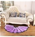 Gorgeous Thick Semi-Circle Petal Design Rug Multi-Color