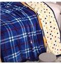 Stylish Gingham Plaid Design Blanket for All Seasons