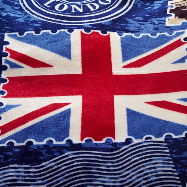 The Union Jack Print Dark Blue Bed Blanket