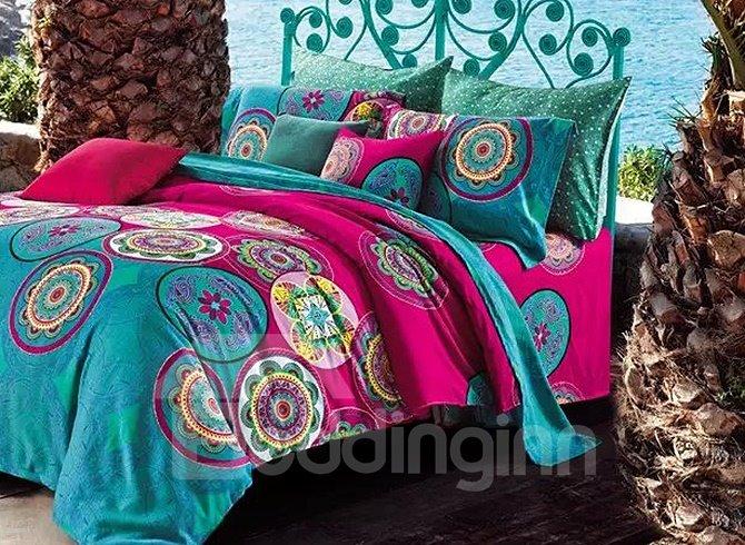 Beautiful Jacquard Print 100% Cotton 4-Piece Duvet Cover Sets