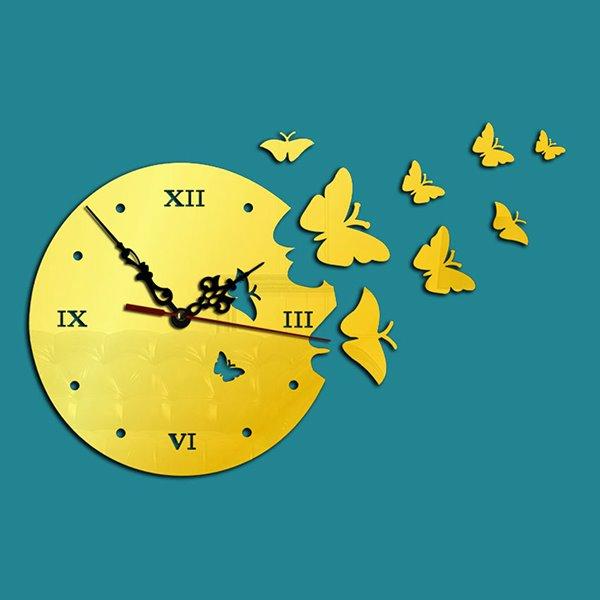 Fantastic 3D Butterfly Design Wall Clock