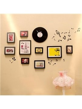 Wonderful Vinyl Records Wall Clock and Wall Photo Frames