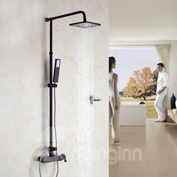 High Quality Noble Black Thermostatic Shower Head Set