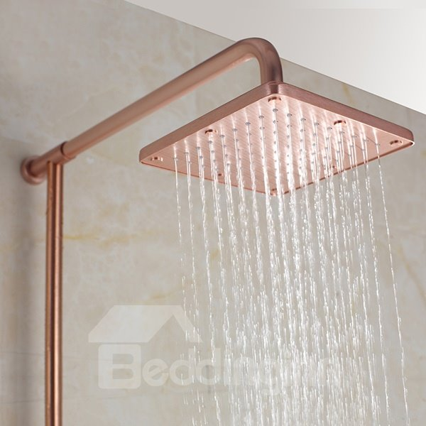 High Quality Modern Golden Color Thermostatic Shower Head Set