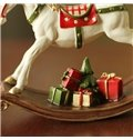 American Country Style Resin Rocking Horse Desktop Decoration