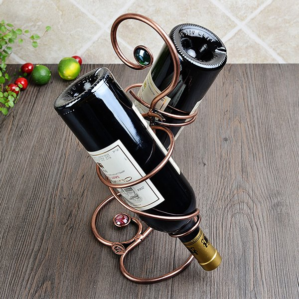 Unique Iron 2-Bottle Wine Rack