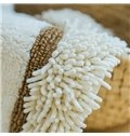 Modern Concise Design 100% Cotton Bath Rug