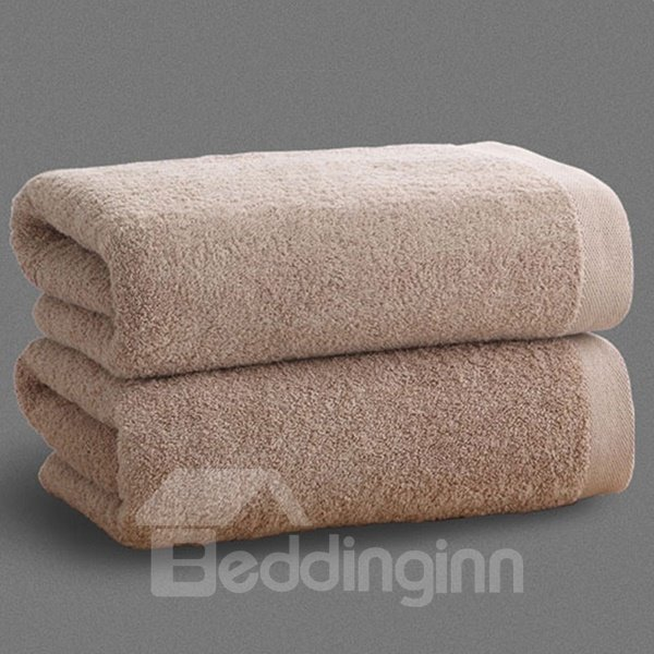 Contemporary Hotel Quality Solid Color Thick 100% Cotton Bath Tower