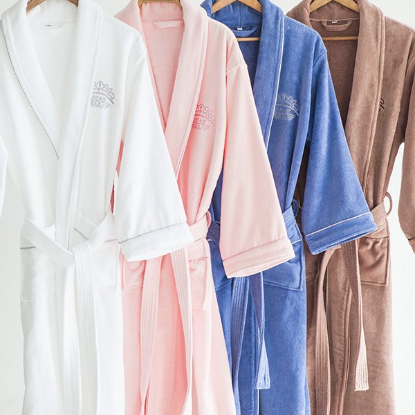 Pure Color Double Layer Technology General Bath Robe