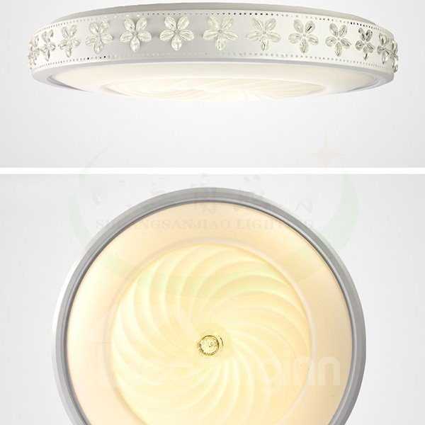 Modern Simple Bauhinia Decoration Round Flush Mount