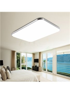 Modern Simple Rectangular Shape Bedroom Living Room LED Flush Mount