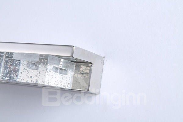 Modern Stainless Steel Bathroom Mirror 3-Light LED Wall Light