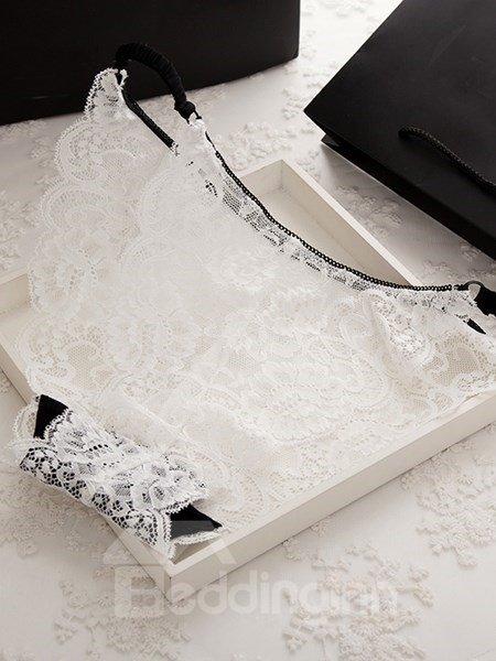 High Class Seamless Bikini Lace Design Panty