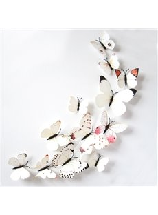Wonderful White Butterflies Removable 3D Wall Sticker