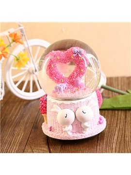Romantic Heart Crystal Ball Resin Desktop Decoration
