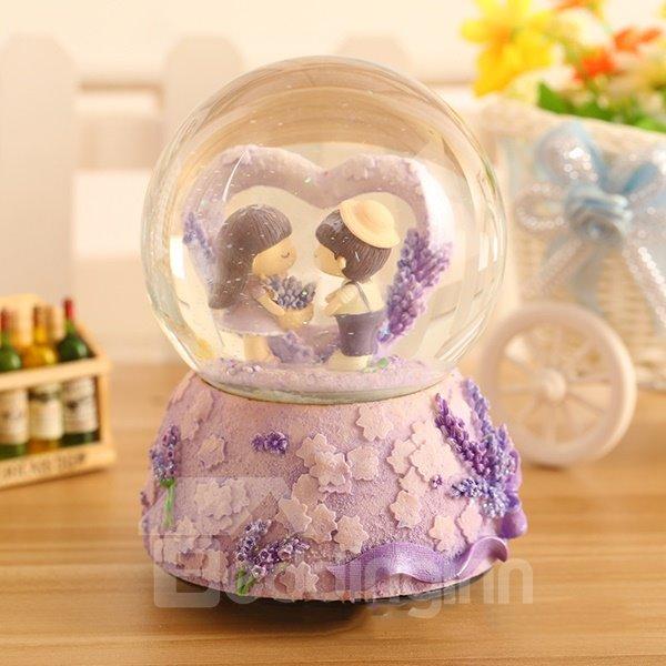 Wonderful Lavender Theme Crystal Ball Desktop Decoration