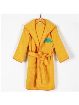 Bright Orange Purified Cotton Kids Bath Robe