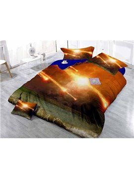 Gorgeous Galaxy Scenery Design Satin Drill 4-Piece Duvet Cover Sets