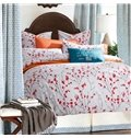 Small Red Flowers Design Cotton 4 Pieces Duvet Cover Sets