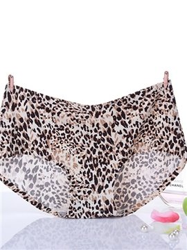 Classical Leopard Pattern Comfy Nylon Women's Panty